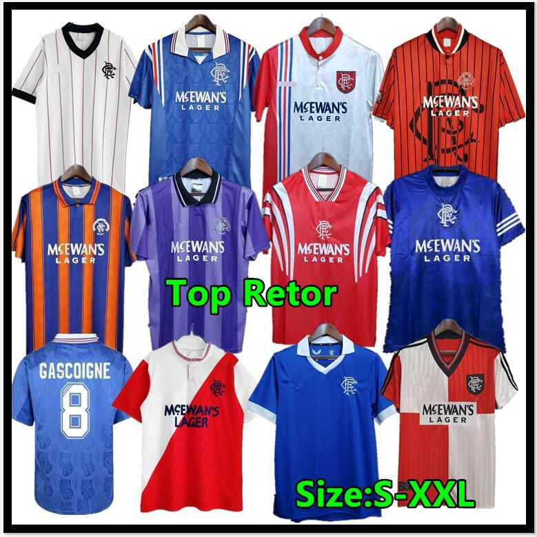 Gascoigne 1996 1997 Glasgow Retro Fussball Jersey Albertz Shearer Klassische Fußballshirts McCoist 87 90 92 94 96 97 99 01 Uniformen