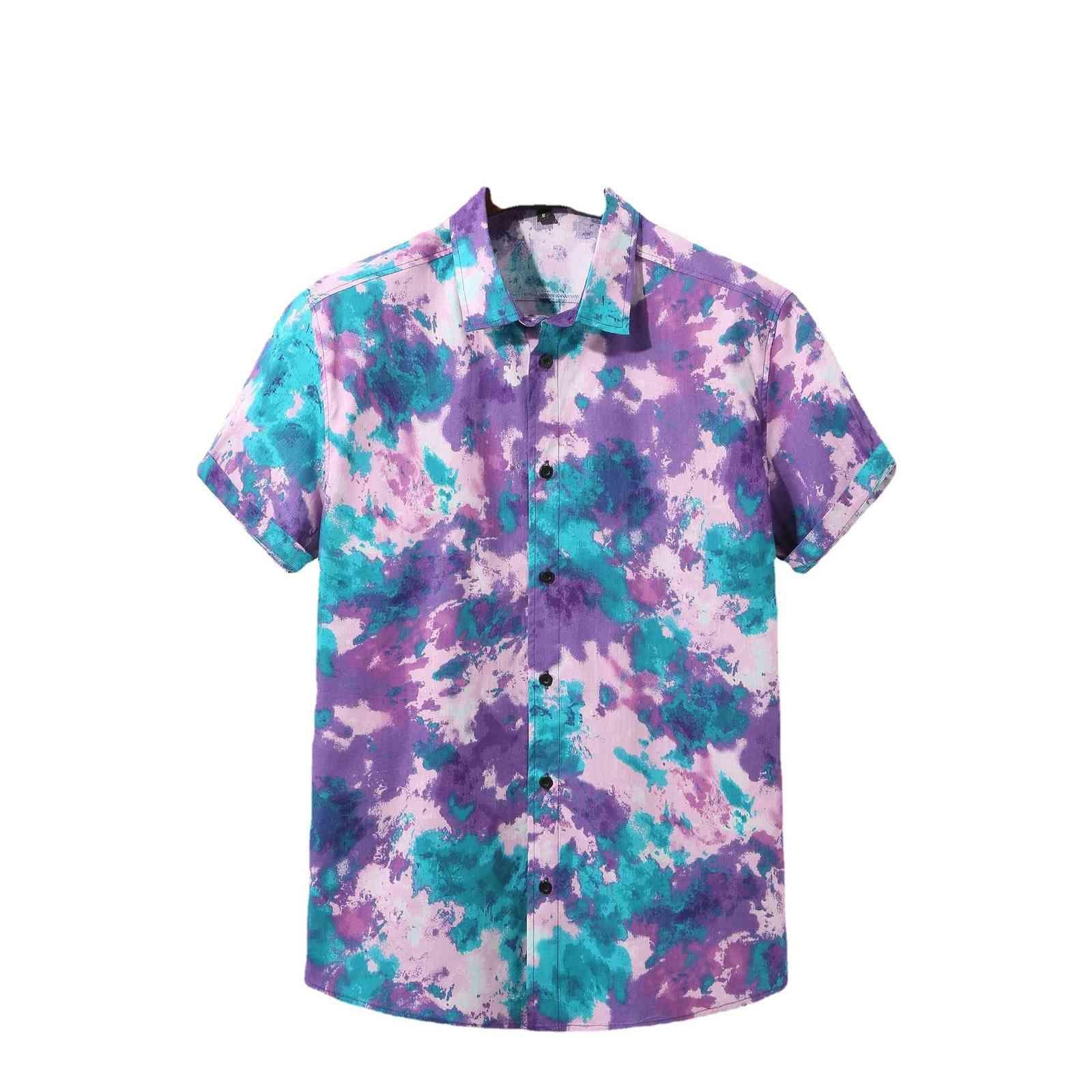 Новая летняя мужская рубашка повседневная легкая с коротким рукавом