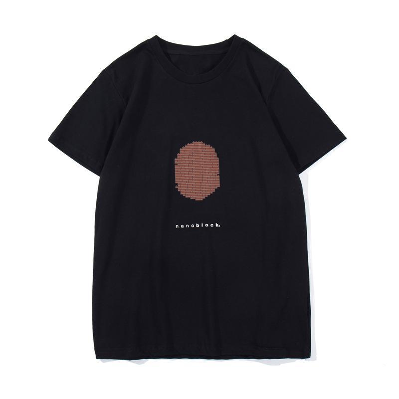 Fashion Mens Designer T Shirt Estate Donna Top Quality Cotton Pattern Stampa manica corta Black Bianco Coppie Coppie Tees Dimensione M-2XL