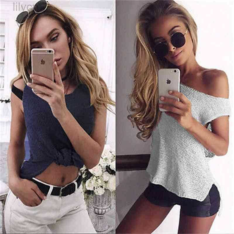 New1 Summer Women Casual Tank Tops Knit Vest Sleeveless Crop Shirt clothing