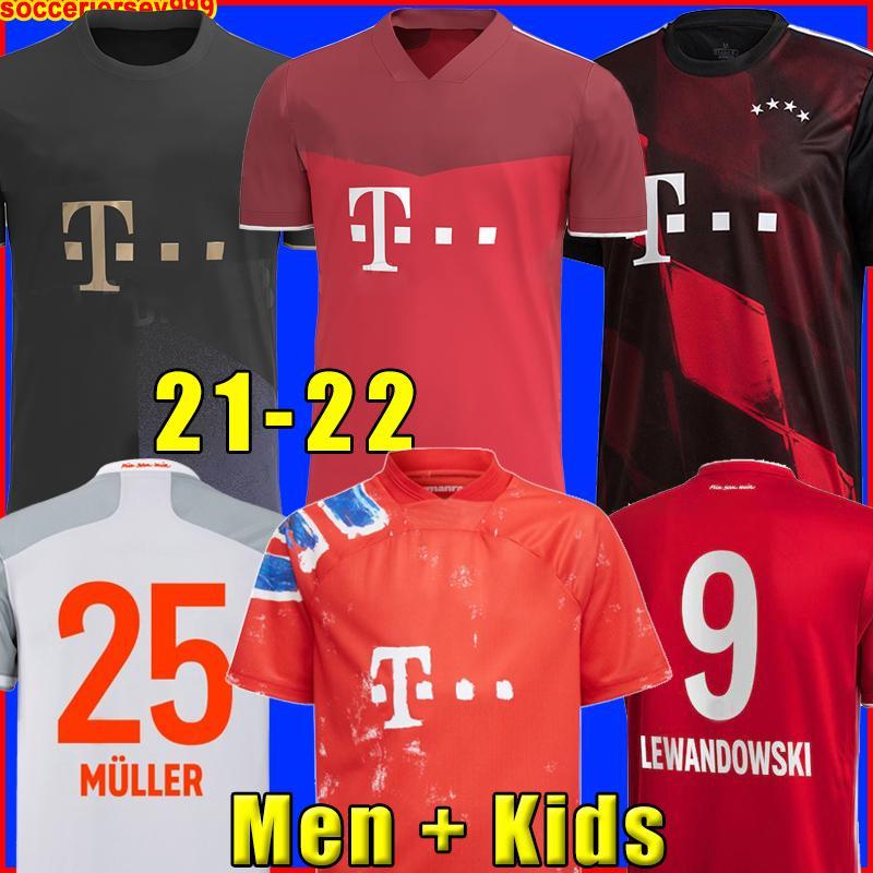 Soccer Jersey 20 21 Muller Davies كرة القدم قميص الرجال Kids Kit 2020 2021 الرابع