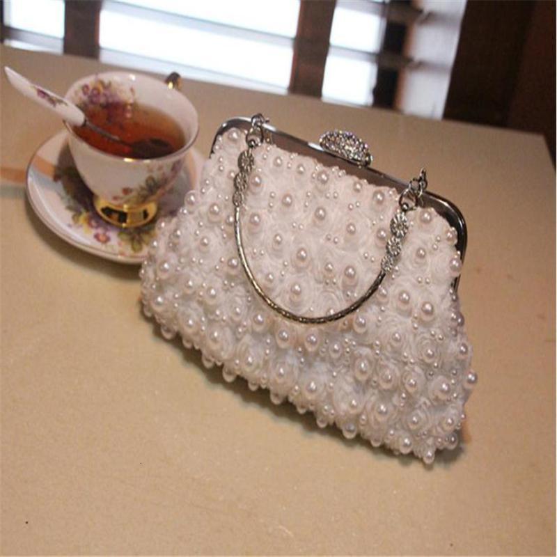 Akşam Çanta Çiçek Boncuk Bayanlar Düğün Çantası Kabuk Hasp Kadın Çanta Lüks Tek Omuz Messenger Bayan1 9CZU