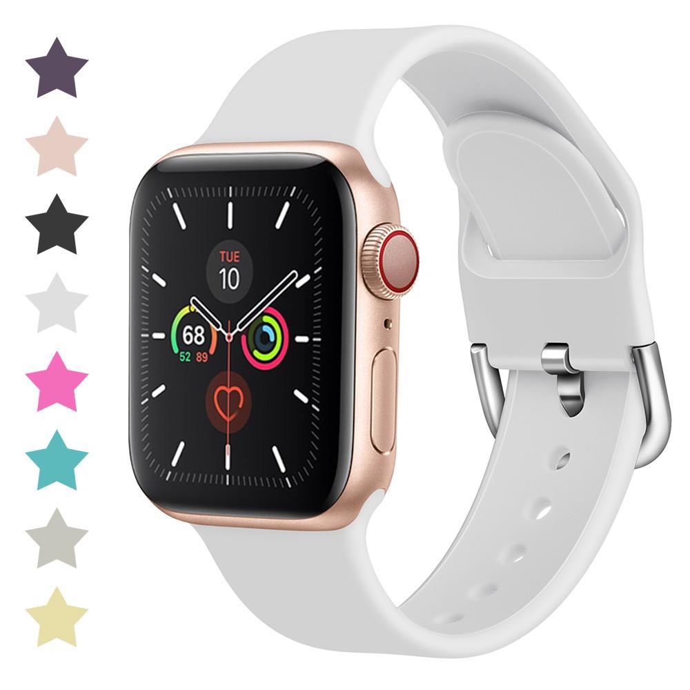 Ersatzgurt für Apple-Uhr-Band 42mm 38mm 44mm 40mm IWATCH-Bänder Armband für Apple Watch Armband SE-Serie 6/5/4/3/2/1 81007
