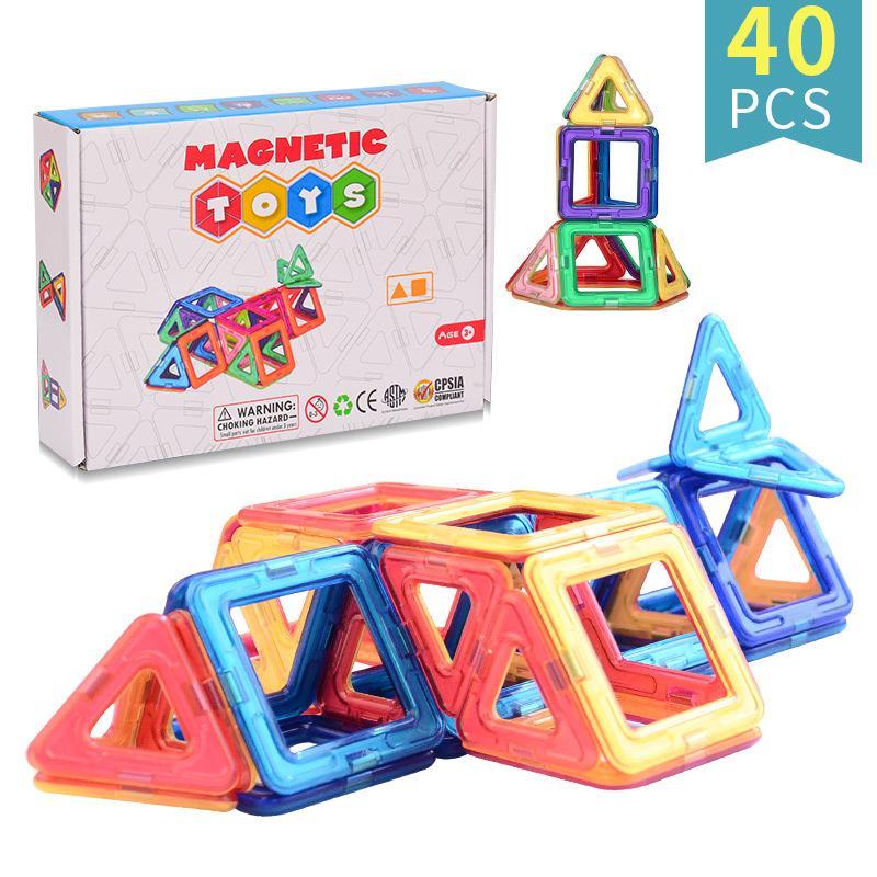 Juguetes de inteligencia 40pcs Puzzle juguete juguete Magnético Bloques de construcción Niño Adulto Juegos divertidos Ventilación de plástico
