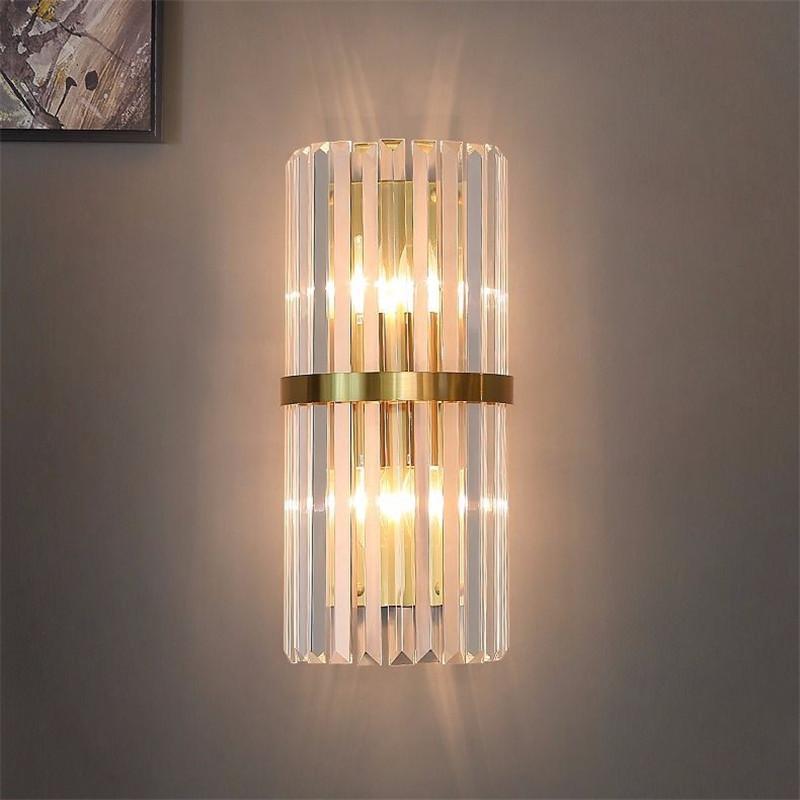 Lámpara de pared Dormitorio de cristal Sala de estar Estudio de comedor
