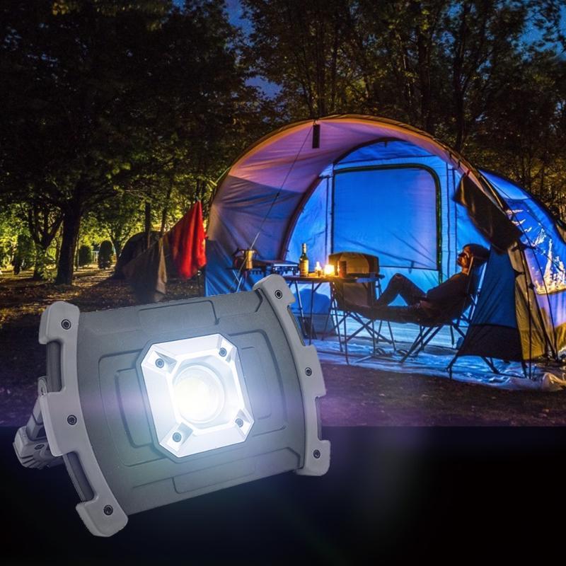 PUCHLEST 20W USB recarregável cob lanterna À prova d 'água lâmpada de luz brilho tocha para acampar lanternas portáteis