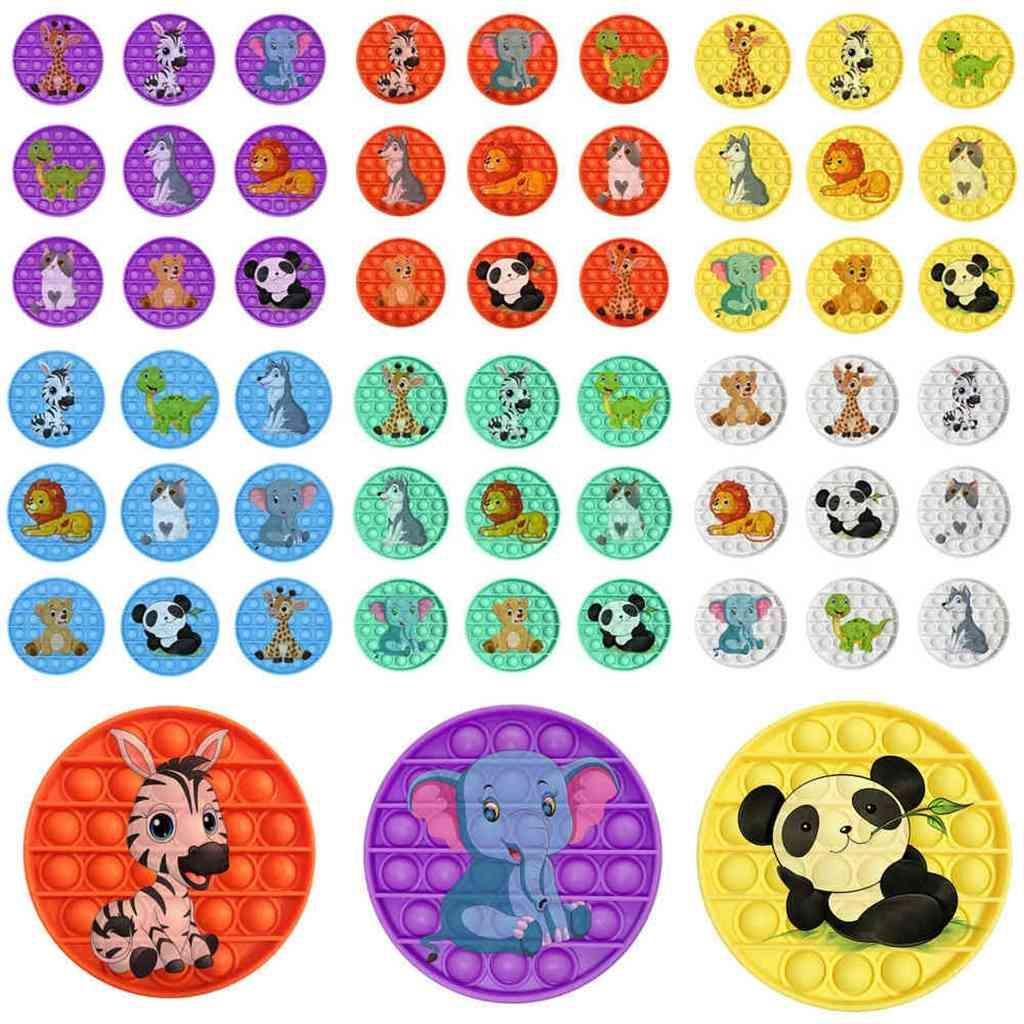 Fidget Toys Toy Silicone Toy Tabletop Bubbles Sensor Sensory Desktop Game Push Bubble Poppers DecomPresion Fidgets Dibujos animados Animal Fress Reliever Puzzle G761BCA
