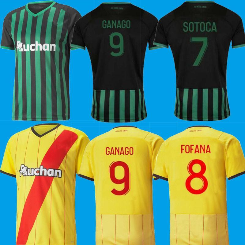 21 22 مايوه RC عدسة لكرة القدم الفانيلة Kakuta Ganago Sotoca Fofana Gradit Fortes Banza Cahuzac 2021 2022 قمصان كرة القدم الرجال الأعلى تايلاند