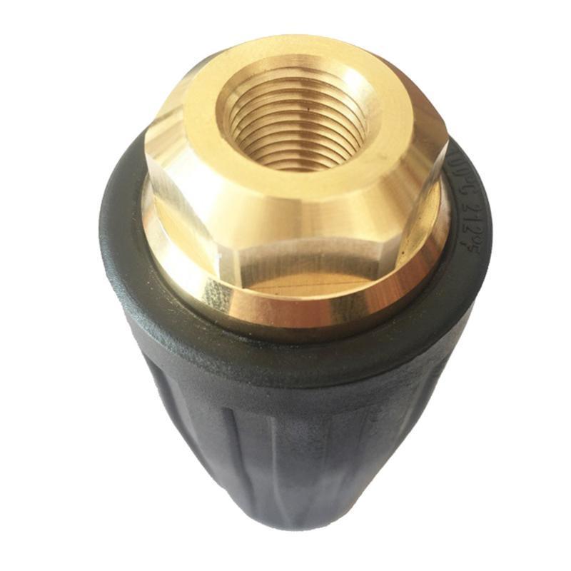 Equipements d'arrosage Ultra haute pression Eau pulvérisateur Tête de la turbine Turbine Turbine Buse en céramique (Noir 3,5 gallons / min.)