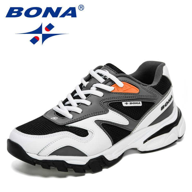 Bona 2021 New Designers Casual Shoes Light Sneakers Men Classic Running Shoes Man Comfort Outdoor Breathable Jogging Footwear Q0728