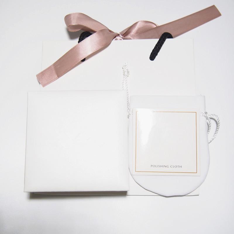 مجوهرات مجموعة أبيض مربع ورقة حقيبة الحقيبة تلميع القماش صالح ل باندورا الأوروبي سحر الخرزة قلادة أقراط الدائري سوار الإسورة قلادة التعبئة والتغليف