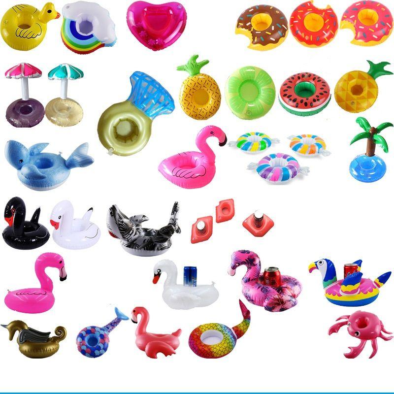 Şişme Kupası Şamandıra Flamingo Kupası Tutucu Bardaklar Yüzme Havuzu Hava Yataklar Havuz Oyuncak için Şişme İçecek Tutucu 4715