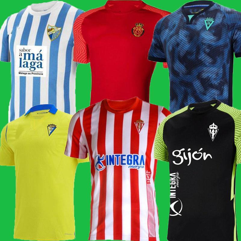 Malaga 2021 2021 2022 كاديز لكرة القدم الفانيلة Málaga Cádiz CF Camisetas de Fútbol Sporting Gijón 21 22 Gijon Lozano Alex Bodiger Juan Cala Camiseta Mallorca قمصان كرة القدم