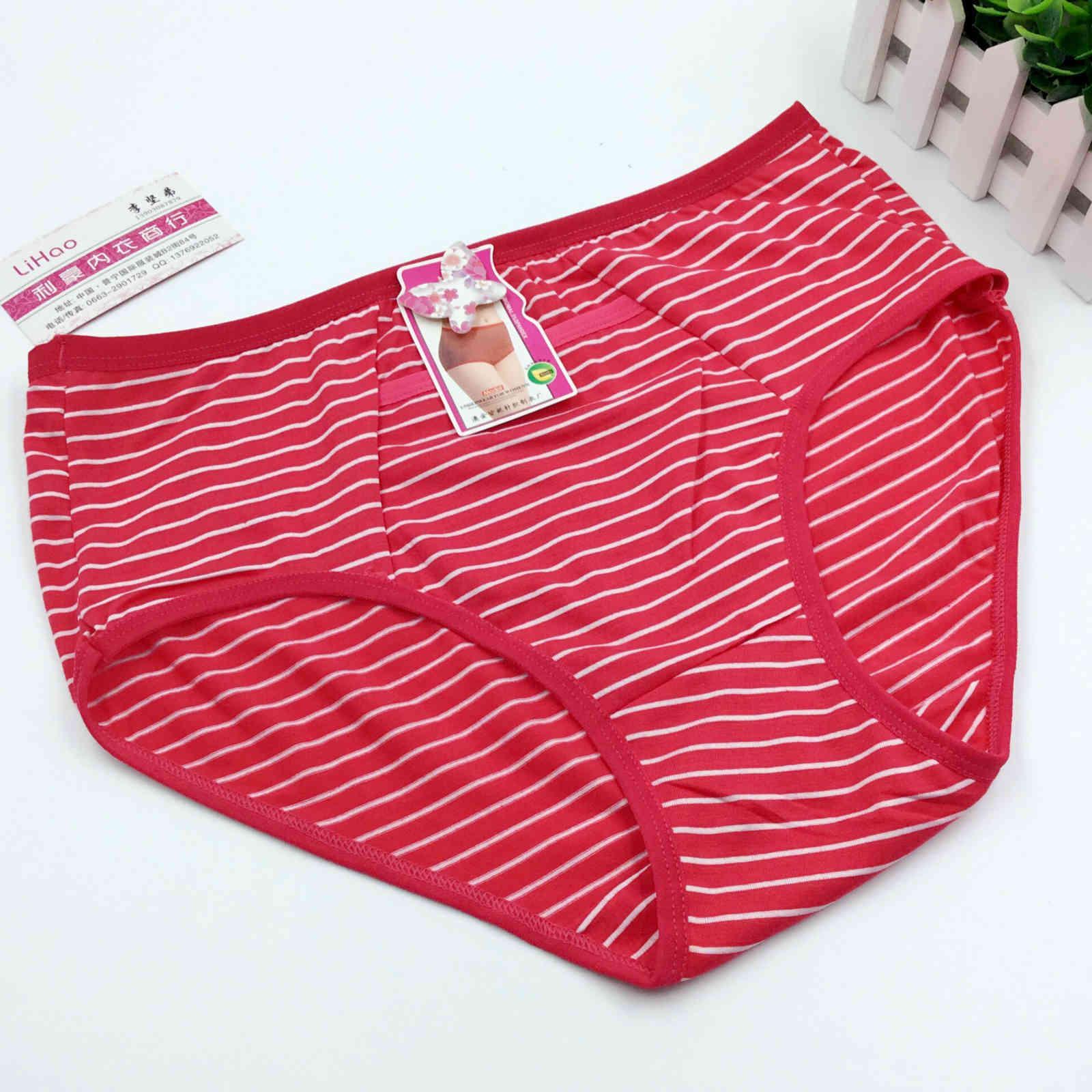 Mutandine di mezza età e antica tasca alta a vita alta tasca in cotone di grandi dimensioni aggiungi biancheria intima da donna grassa