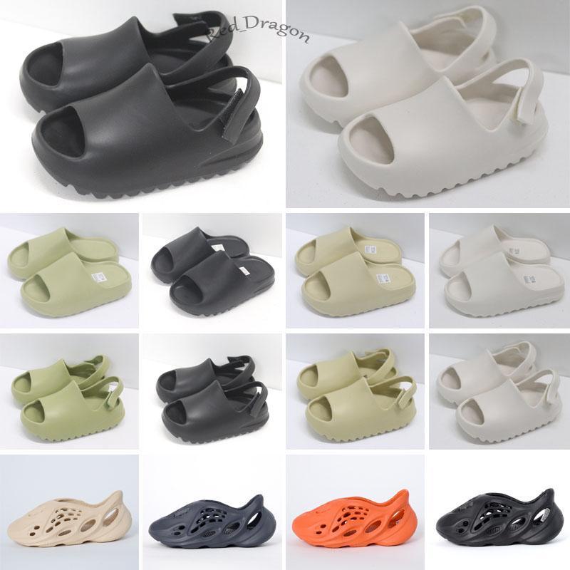 Çocuk Bebek KAN Wester Ayakkabı Kemik Bebek Siyah Slaytlar Büyük Çocuklar Yaz Terlik Sandalet Köpük Toddlers Çöl Kum Reçine Plaj Erkek Kız