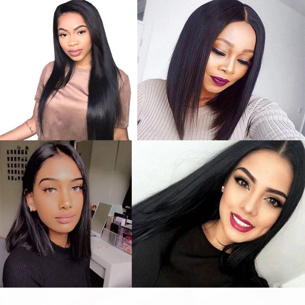 Dilys Human Hair Tece Extensões de Cabelo Reta Extensões Brasileiras Cabelo Humano Wefts Bundles Cor Natural 8-28 polegadas