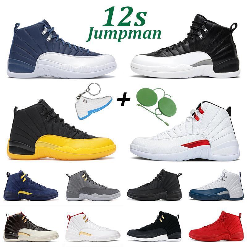Chaussures de basket-ball 12S Jumpman 12 Men Femmes Dark Concord Game Jeux Université Gold Indigo Playoff Blue Blue Mens Sports Sneakers Taille 7-13