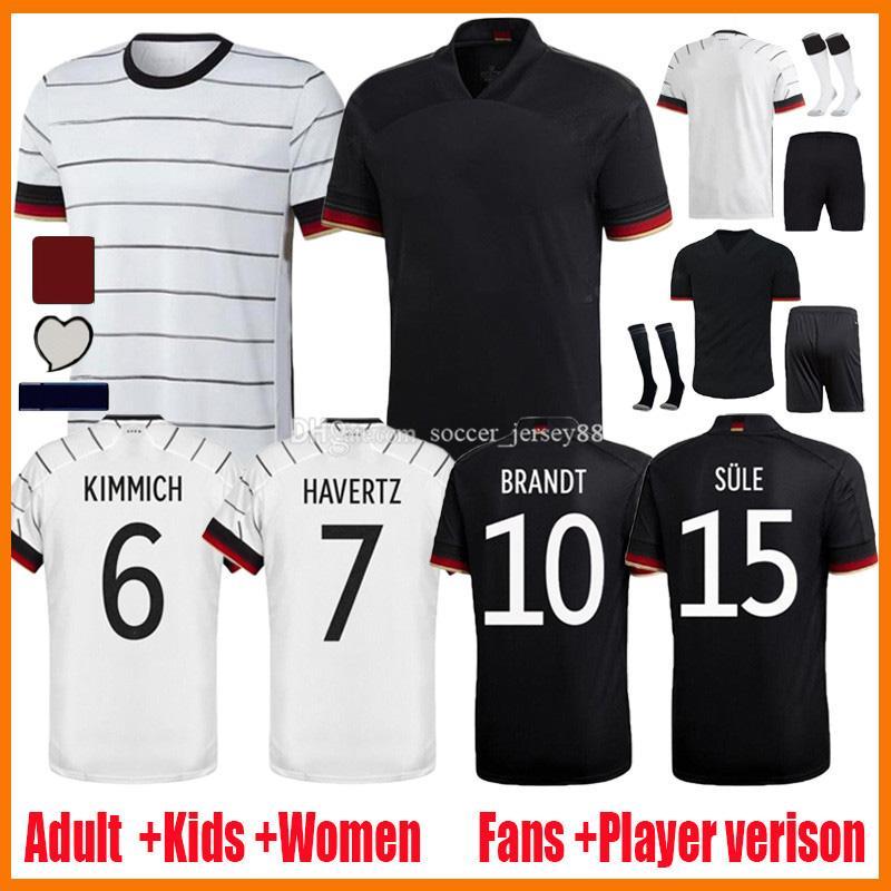 20 21 كرة القدم الفانيلة المشجعين لاعب الإصدار Hummels Kroos Gnabry Werner Draxler Reus Muller Gotze ألمانيا Camisa de Futbol Football Camseta Kids Kids Kits