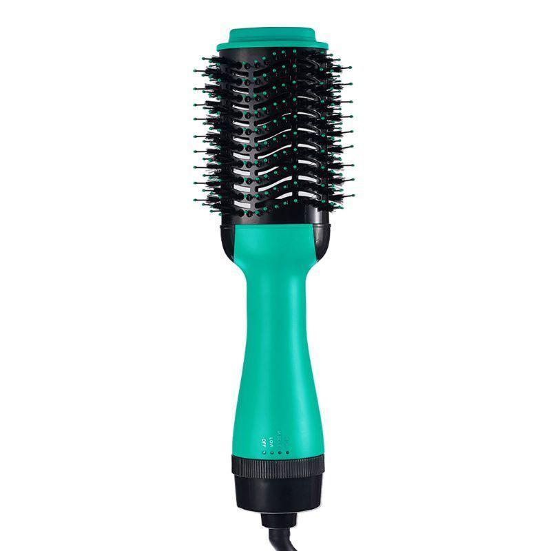 Profissional um passo abaixo do pincel do secador de cabelo 2 em 1 alisador e encrespador de ar de ondulação de ferro rotativo pente escovas elétricas