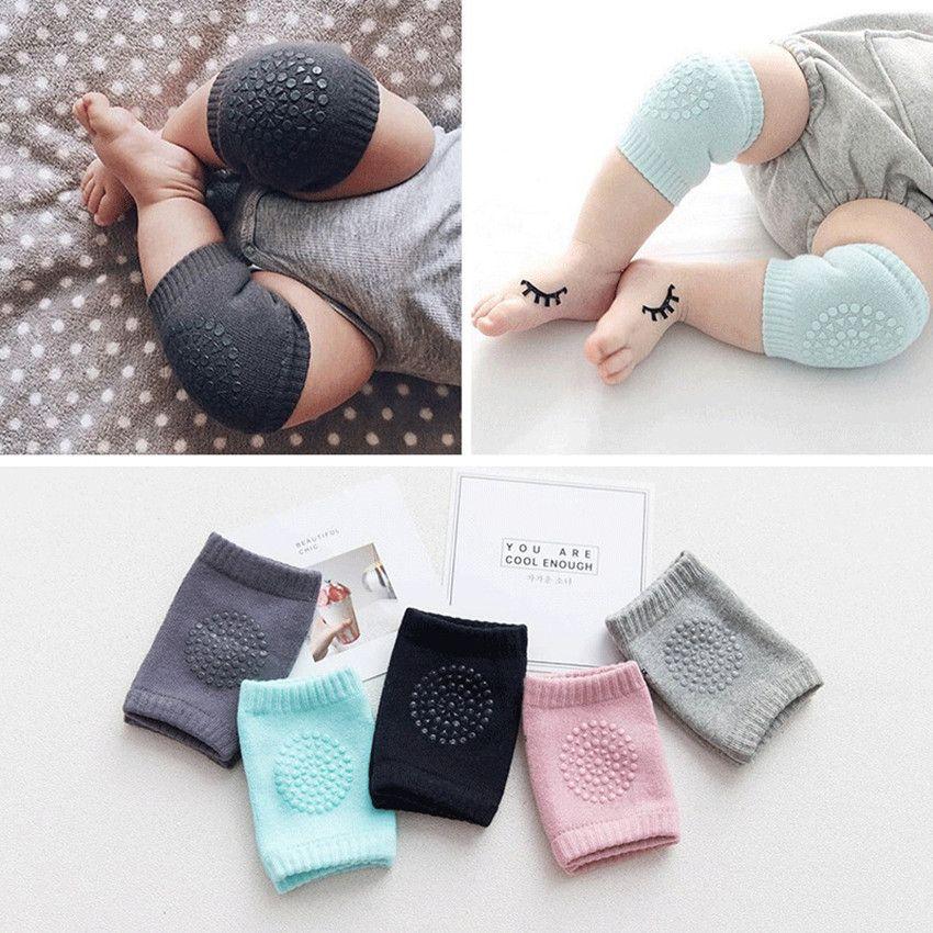 Calzini per bambini Protezione del ginocchio antiscivolo per crawl pad tumble boy girl cotone cotone traspirante gamba gamba gambe sorriso