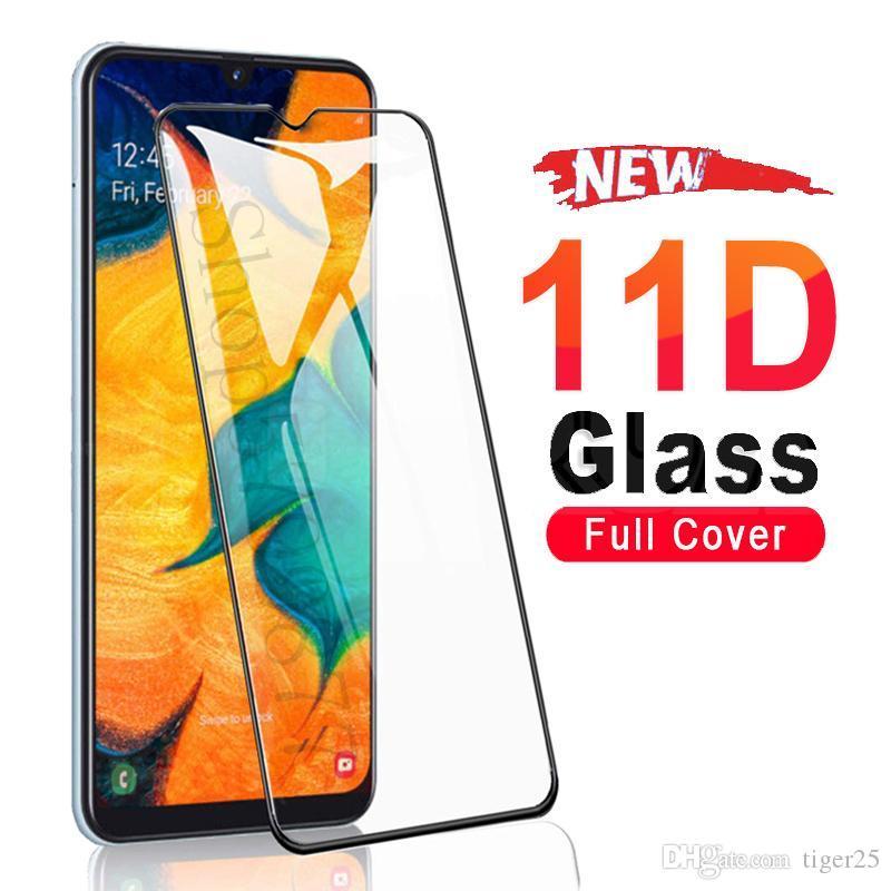 Vidro temperado para Samsung Galaxy A01 A11 A51 A31 A41 A51 A71 Protetor de tela Glas M11 M21 M31 M51 A30 A50 A50 A50