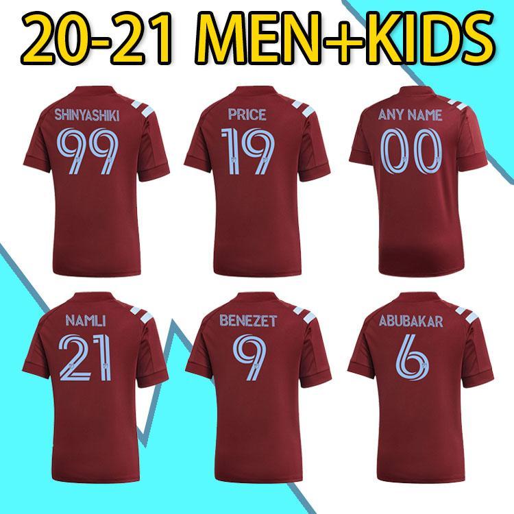 2021 MLS Colorado Home Soccer Jersey Rapids Benezet Namli Shinyashi Abubakar Shinyashiki Camicia da calcio Man + Kid Kit Kit