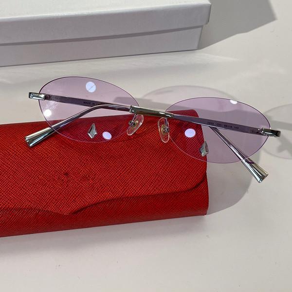 Sunglasses For Women Summer style 265S Anti-Ultraviolet Retro Plate Frameless fashion Eyeglasses Random Box