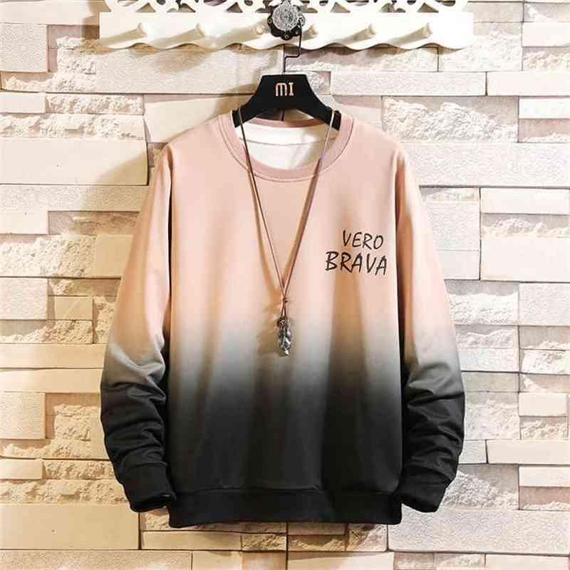 Automne Spring Sweatshirt Sweat-shirt Homme Blanc Blanc Hip Hop Punk Punk Streetwear Streetwear Casual Mode Vêtements et Oversize 5XL 210728