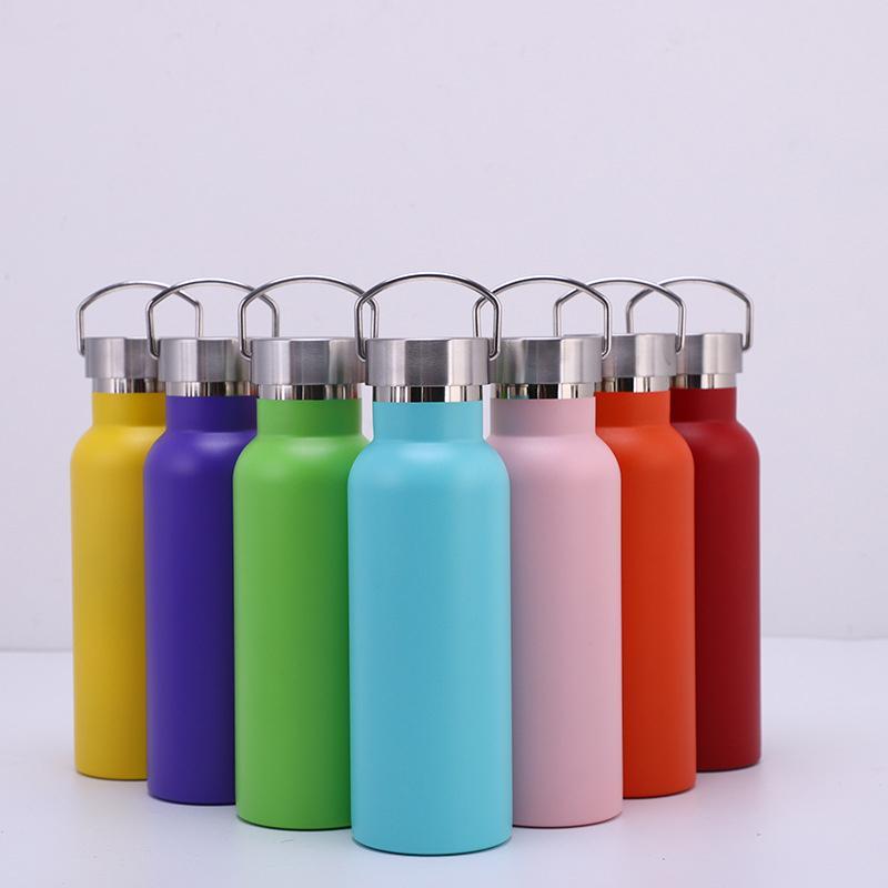 휴대용 진공 컵 304 스테인레스 스틸 스포츠 병 야외 보온병 여행 물 병 14 색상