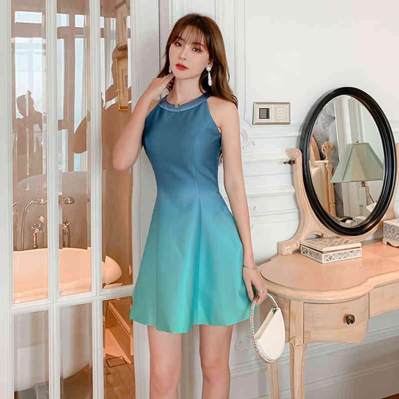 estilo de llegada de moda hasta elegante fiesta femenino verano cinturón de temperamento dama playa mini vestido