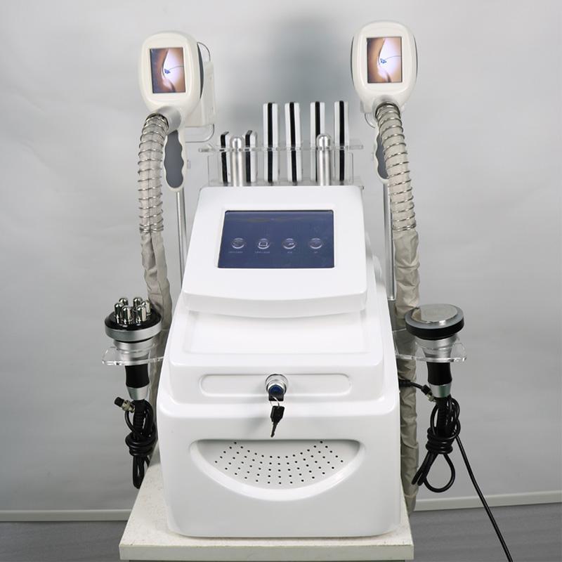 Cryolipolysis Yağ Donma Zayıflama Makinesi 2 CRYO RF Kavitasyon 4 in 1 lllt Lipo Lazer Kilo Kaybı Spa Salon Kullanım Güzellik Ekipmanları
