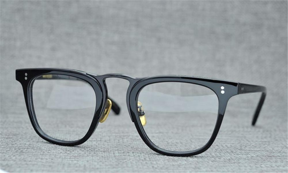 Quadro grande retangular quadro dos homens simples moldura placa com metal design clássico óculos de quadro completo OV 49