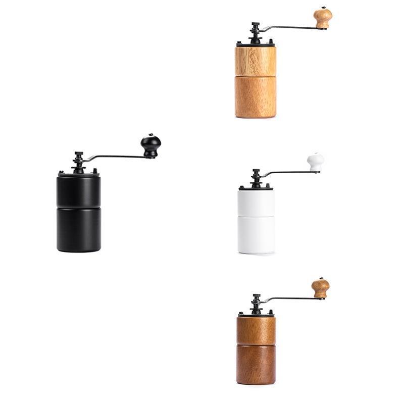 Moedor manual de madeira maciça, espessura ajustável, máquina de café artesanal, moedor de residências elétricas