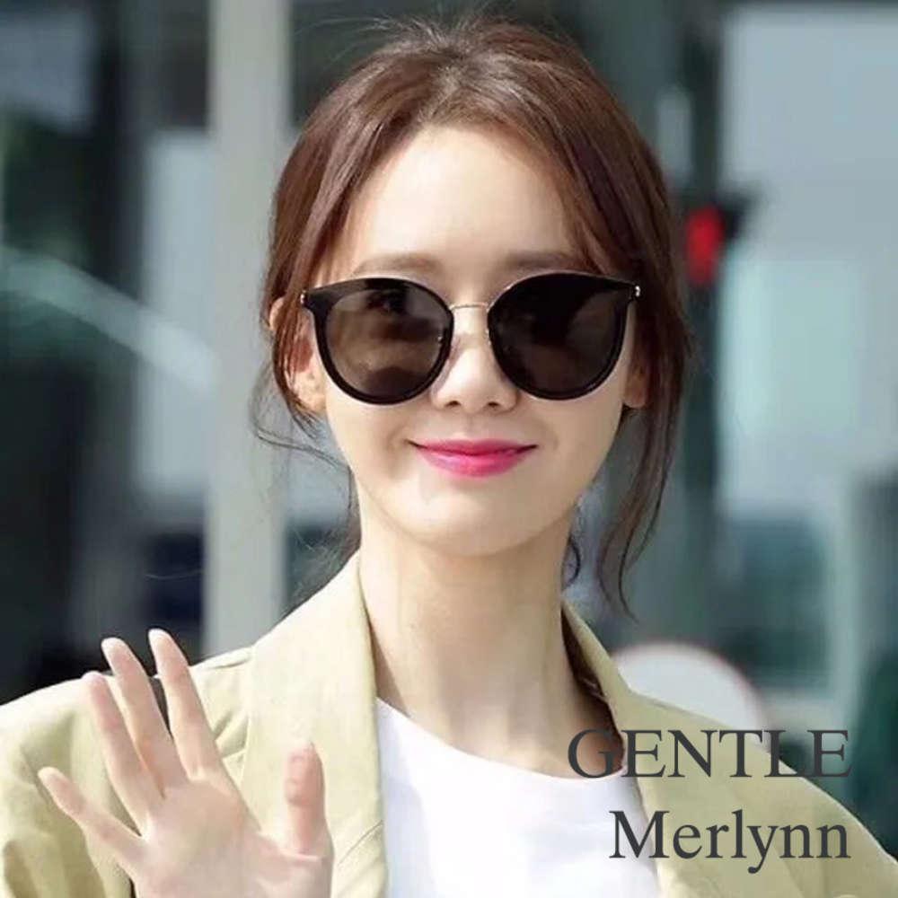 Alta Qualidade Coréia Rodada Homens Mulheres Sunglasses Gentil Merlynn Acetato Polarizado UV400 Óculos de Sol Mulheres com Caso de Marca