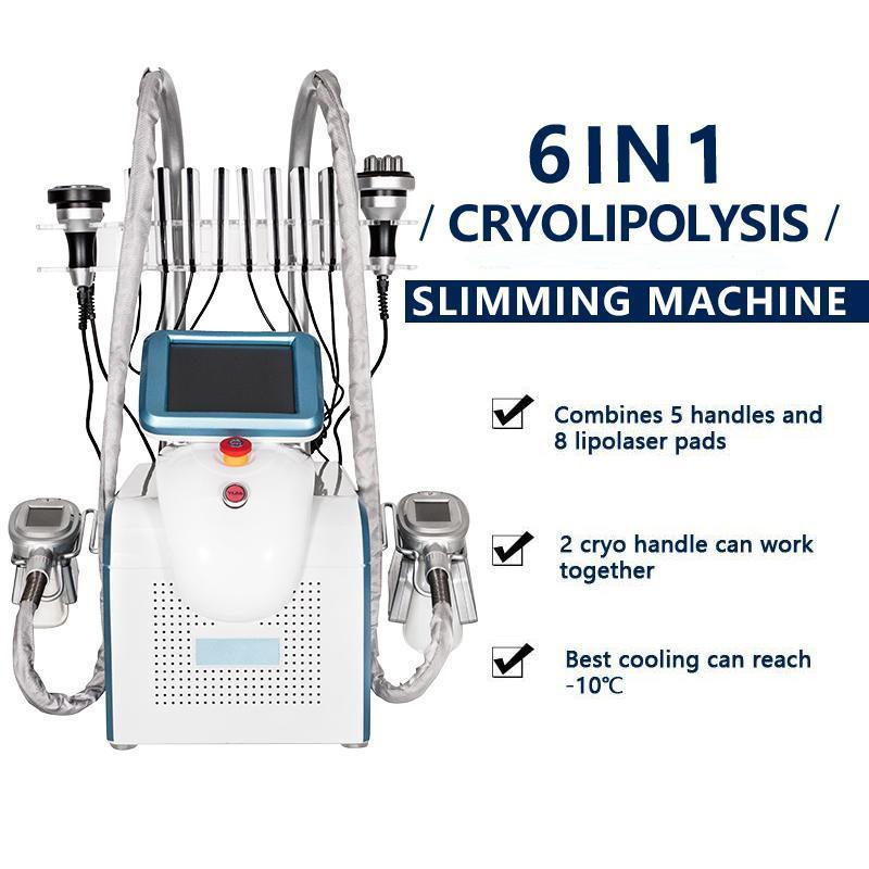 2021 휴대용 Cryolipolysis 지방 냉동 슬리밍 기계 진공 아디 피즈 감소 냉동 Cryotherapy Cryo 체중 감량 장비 Lllt Lipo 레이저 가정용