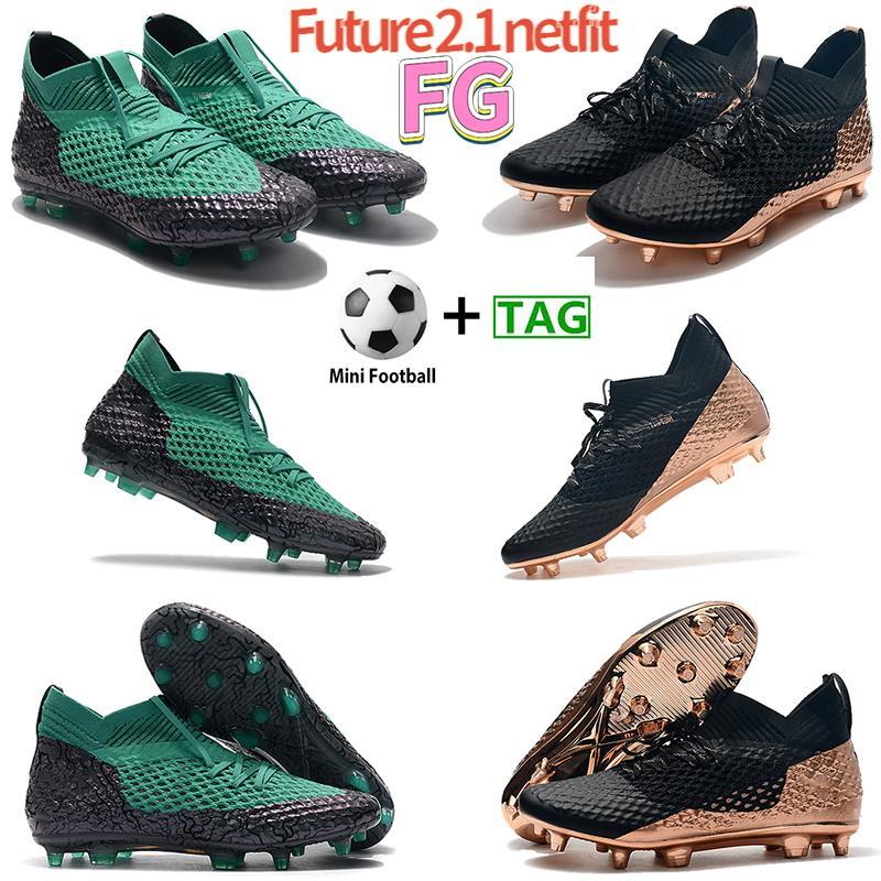رجل مستقبل 2.1 netfit fg أحذية كرة القدم الرجال كرة القدم الأحذية السوداء الزمرد روز الذهب مصمم الرياضة أحذية رياضية الولايات المتحدة 6.5-11