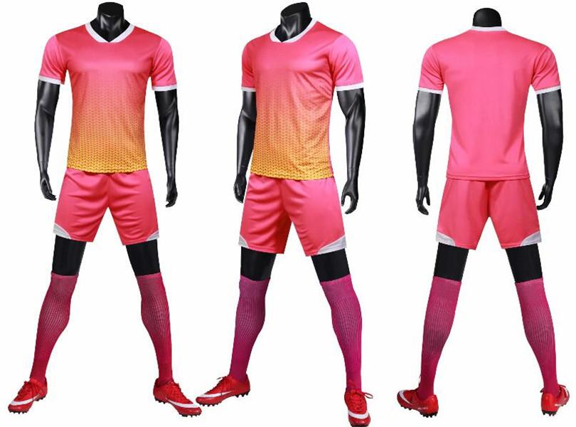 0132 Hommes Football Shirt Kits Jersey Soccer Jersey Taille adulte Taille à manches courtes Suit Jogging Tracksuit Set