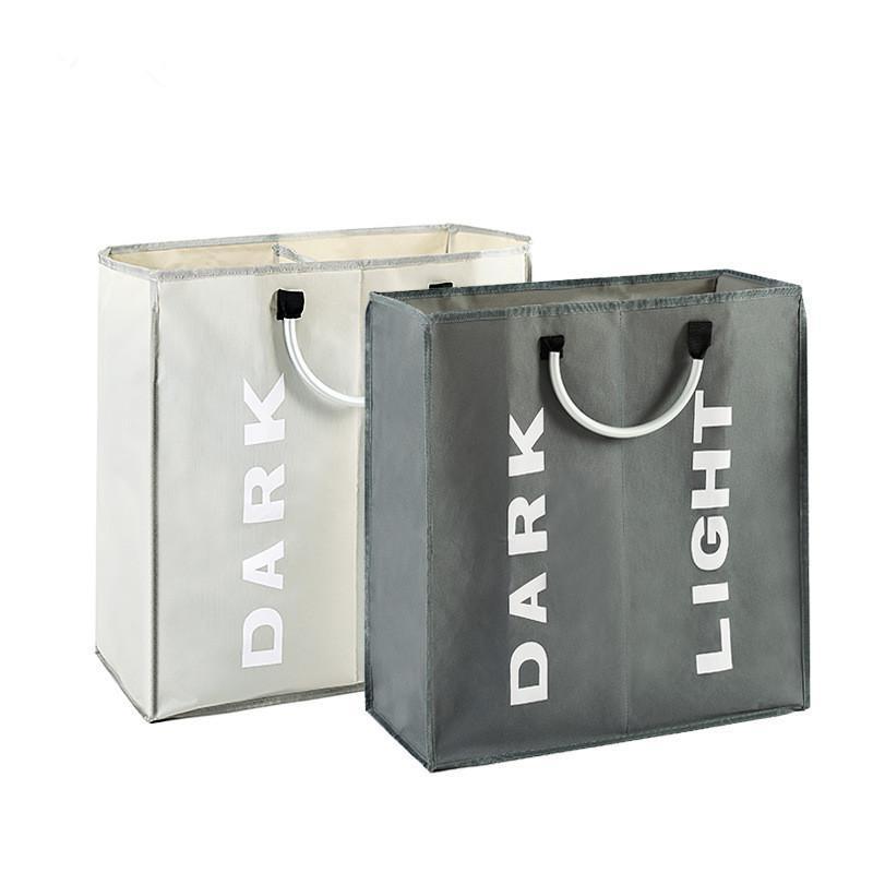세탁 가방 접이식 바구니 큰 더러운 방해 가방 분류기 옥스포드 헝겊 옷 알루미늄 핸들 스토리지 바구니