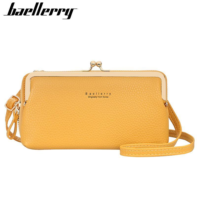 작은 여성 가방 여름 여성 가방 최고 품질의 전화 포켓 소녀 어깨에 대 한 노란색 패션