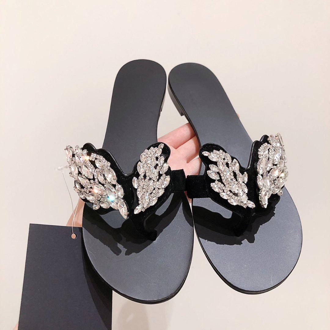 2021 Moda Sandalet Rahat Marka Düz Rahat Kadın Terlik Ayakkabı Boyutu 35-40