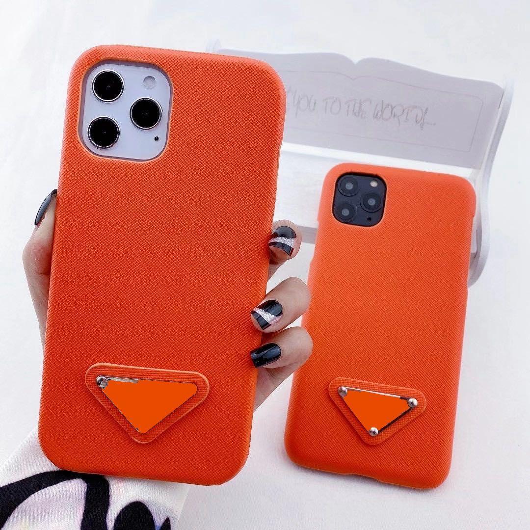 Caja del teléfono de moda de diseñador para iPhone 12 Pro Max 11 XR XS MAX 7/8 PUS PUS DE CUERO DE CUERO PARA SAMSUNG S8 S9 S10 PLUS Nota 8 9 20 Atrás