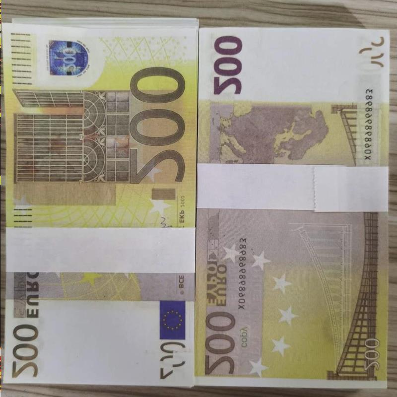 Copy Euro Money Prop 023 Collection Props 100pcs/pack Banknotes Children Computing Game 200 Banknote For Folded Realistic Paper Jdobk