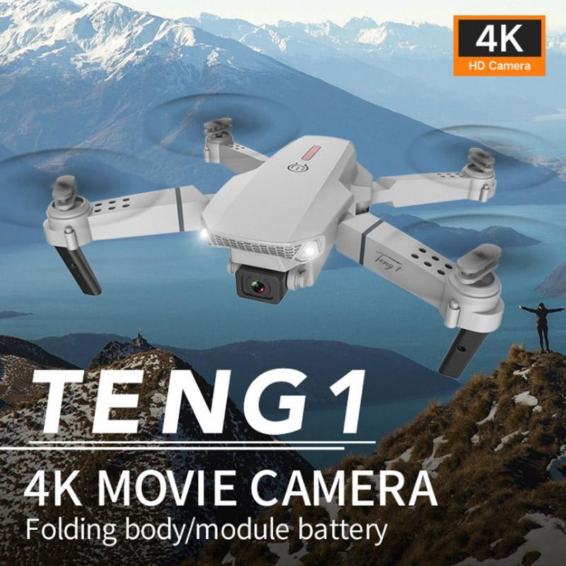 New-Teng1 E88 التحكم الذكي 4 كيلو برو hd الطائرات بدون طيار مع كاميرا مزدوجة wifi 1080P في الوقت الحقيقي انتقال fpv طيار اتبعني rc quadcopter