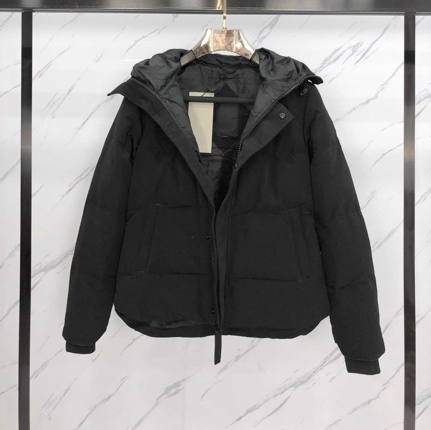 Женская зимняя вниз пальто классическая верхняя одежда толщиной мода два стиля меховой воротник письма шаблон мужчины парки теплые топы женщины унисекс