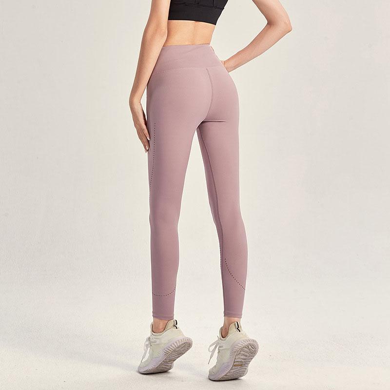 Yogas de fitness gyms costume costume pantalon taille haute taille sport halets hanches porte legging alignement femmes leggings pantalons de yogaWomens Gym Port Lu
