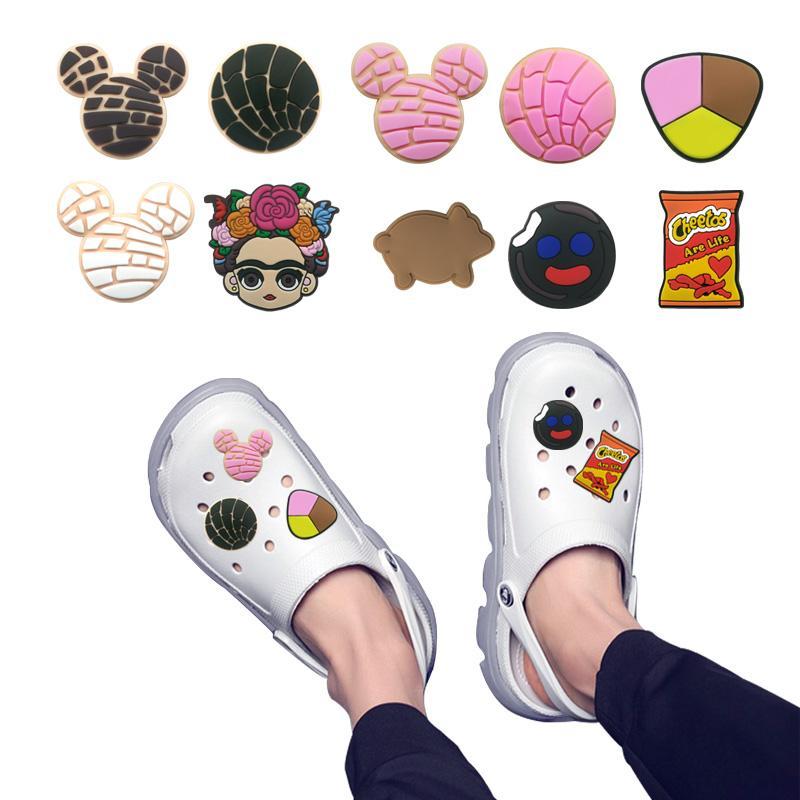 MOQ = 2LOTS Mexico Тема обуви Подвески оптом Jibitz для CROC Soft Резина ПВХ Аксессуары для очарования Рекламные Смешанные 10 видов