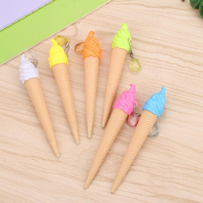 Tükenmez kalemler yaratıcı dondurma mekanik kalem sevimli çocuklar 6 adet / grup
