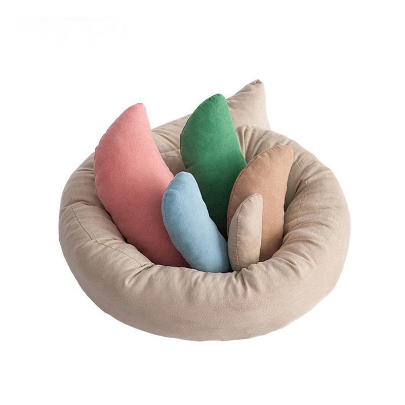 Caps Hats 6pcs / set born posing beans bag baby pogrape pold kindow младенцы полумесяц формированные подушки подушки для позиционера подушки корзина наполнитель