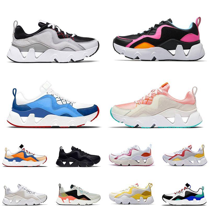 En Kaliteli Rahat Erkekler Bayan RYZ 365 Koşu Ayakkabıları Yaz Nefes Sneakers Eğitmenler Boyutu 36-44 Spor Ayakkabı Koşucular Renk Pembe Gri Beyaz Siyah
