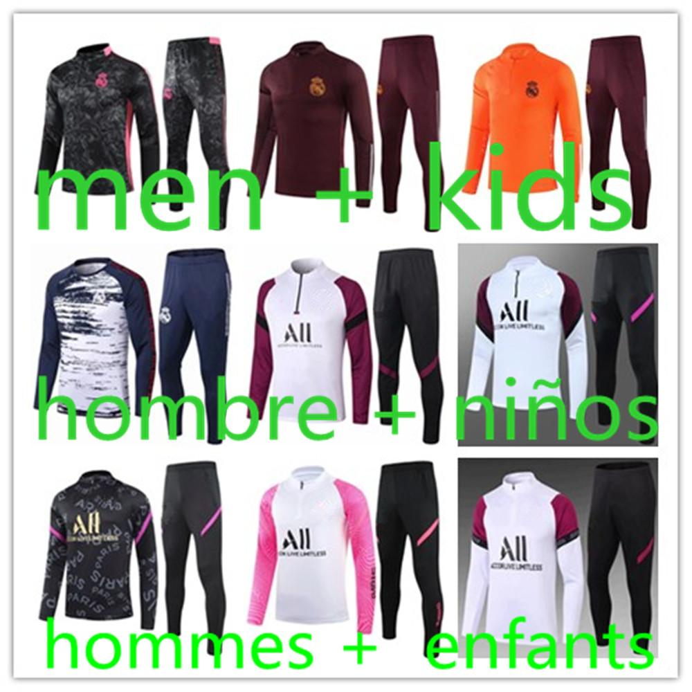 2021 survêtement de football foot pour homme survetement foot  maillot psg Real Madrid Maillots tracksuit maillot de barcelone kids training
